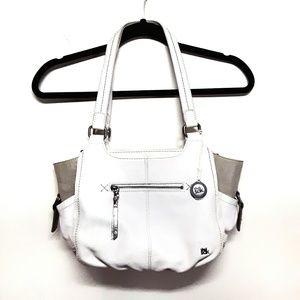 The Sak White Leather Kendra Satchel